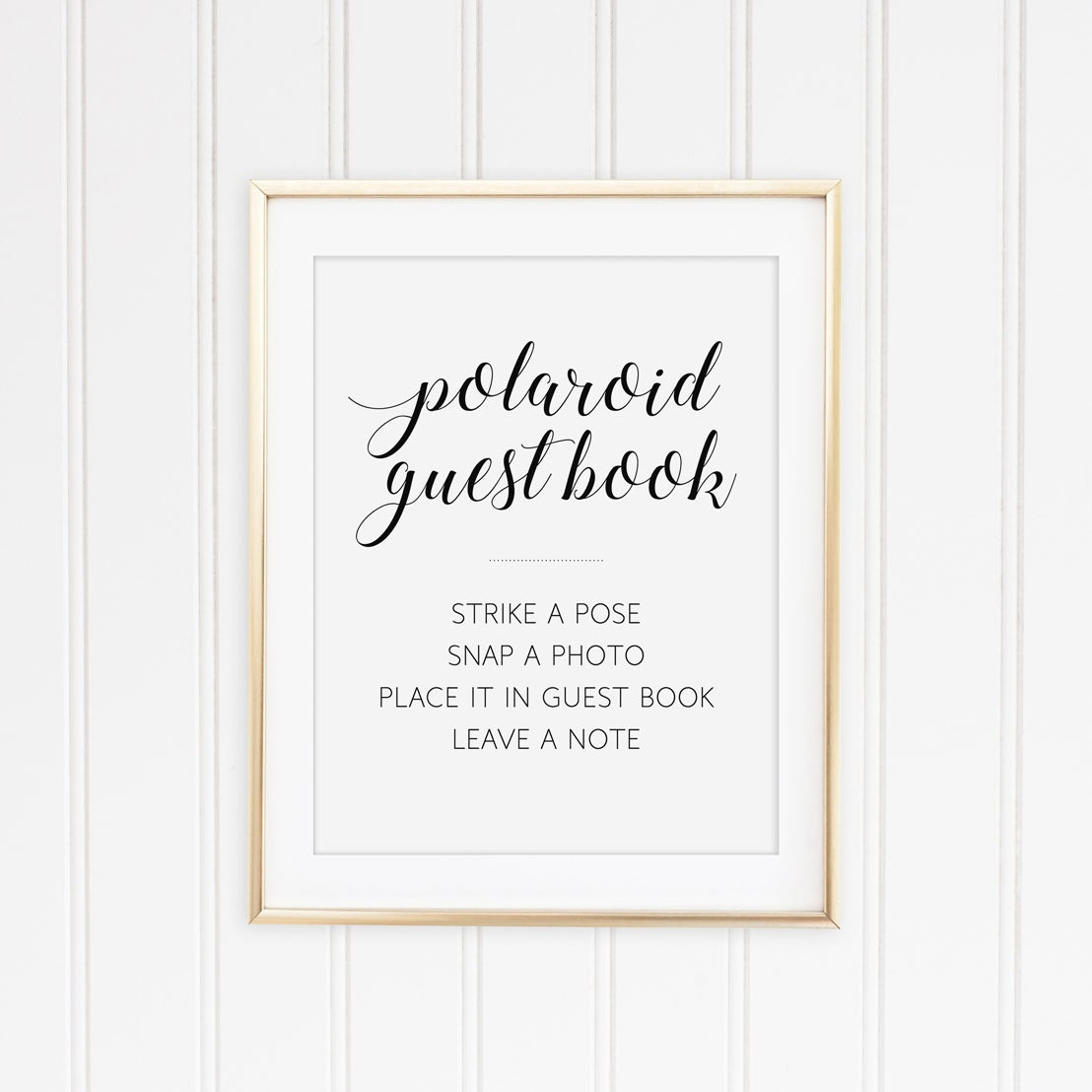 Polaroid Guest Book Sign Printable Guest Book Sign By