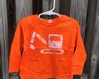 Kids Excavator Shirt, Boys Truck Shirt, Kids Digger Shirt, Orange Truck Shirt, Kids Truck Shirt, Girls Truck Shirt, Construction Truck (2T)