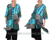 SunHeart Goddess Boho Top Jacket Dress I'm a Creative Genius Nothing-Matches HIppie Chic Resort Wear one size Sml Med Large xl 1x 2x