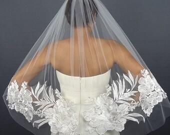Ivory Lace Wedding Veil