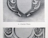 Artistic Leather Work A Handbook on the Art of Decorating Leather E. Ellin Carter 1921 vintage 1920s 20s book leatherwork decorative arts