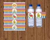 Circus Birthday Party Water Bottle Labels, Circus Themed Birthday Party, Carnival Water Bottle, Circus 1st Birthday, Instant Download