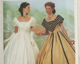 Sz 12 14 16 Butterick Making History Costume Sewing Pattern 6693  Antebellum Wedding Dress /  Gown,  Boned Bodice