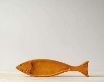 Vintage Wood Fish Dish