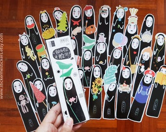 Spirited Away bookmarks, No Face Man bookmark, Spirited Away, Bookmark, Studio Ghibli, Studio Ghibli bookmark, Anime bookmark