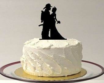MADE In USA, Fireman and Nurse Wedding Cake Topper, Fireman Wedding Cake Topper, Nurse Wedding Cake Topper, Firefighter Cake Topper