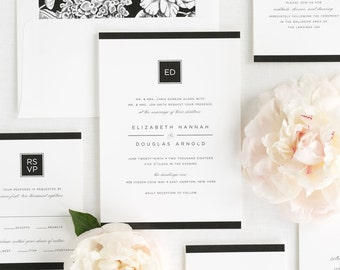 Modern Glamour Wedding Invitations - Sample