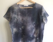 Gray Space Spectral Hand Dyed Womens Top XS/S