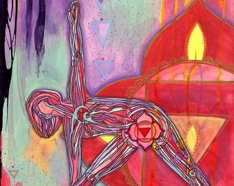 Root Chakra | Yoga Art Print