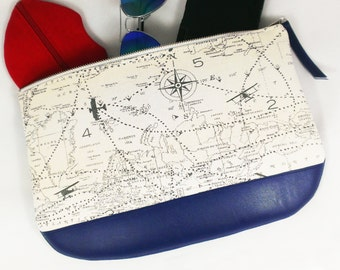 Airplane Clutch Large World Map Purse Travel gifts for women travel bag vegan purse clutch vegan leather vegan clutch purse wristlet clutch