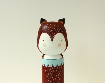 Black Friday Cyber Monday sale 20% OFF - Fox kokeshi doll