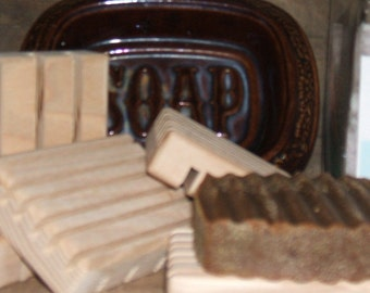 Natural Wooden Soap Dish/Card Holder