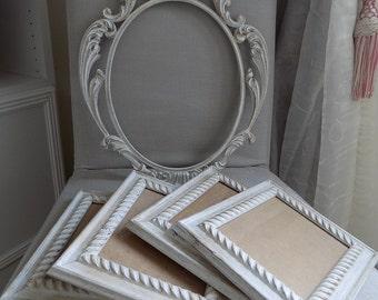 Lot of shabby chic Italian ornate frames
