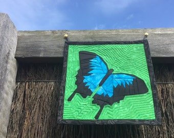 Ulysses Blue Butterfly Wall Hanging