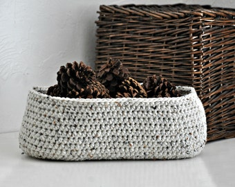 Oval Shaped Basket Home Decor Holiday Decoration Crocheted Organizer Custom Colors