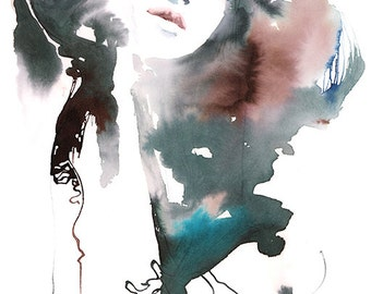 Original Watercolor Painting, Fashion Illustration, Watercolour Fashion Illustration, Fashion Painting, Fashion Wall Art, Fashion Gift