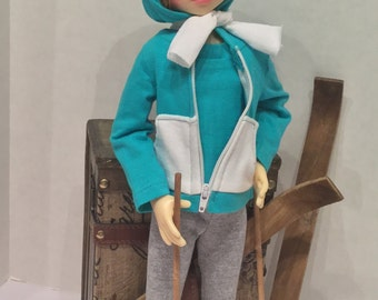 Let's Go Skiing for BJD MSD girls shown on KW doll