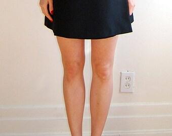 vintage 90's black mini skirt