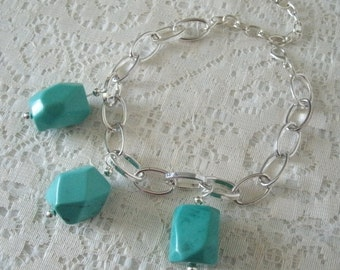 Turquoise Bracelet, turquoise jewelry bohemian jewelry boho jewelry gypsy jewelry hippie new age metaphysical tribal fusion hipster bracelet