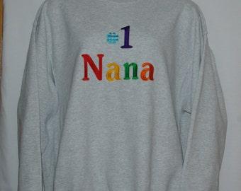 Nana Sweatshirt, Custom Grandparent Gift, Gender Reveal, Personalize With Nanni Umma, Nae Nae, Grandy, Noni, Mum, No Shipping Fee, AGFT 917