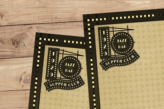 Jazz Bar - A5 Stationery - 12, 24 or 48 sheets