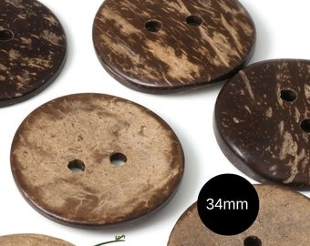 Large coconut buttons - set of 10 buttons - COCO-I002-101