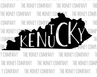 Kentucky SVG PNG DXF State Outline Instant Download Silhouette Cricut Cut Files Cutting Machine