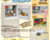 COMBINATION SET Re-ment Miniatures Kitchen and Refrigerator/Re-ment refrigerator/Refrigerator Re-ment/Fridge Miniature/Miniature Fridge