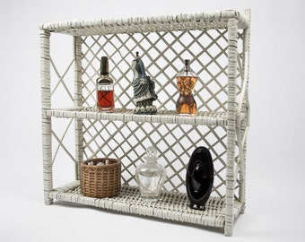 50% Off  Wicker Hanging or Standing Display Storage Shelf Bath Decor Nursery Decor