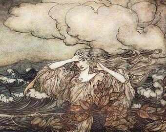 Wind & Waves,  Arthur Rackham, Vinatge Art Print