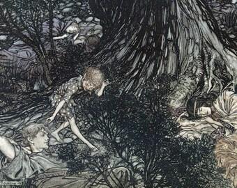 Gentle Lover,  Arthur Rackham, Vinatge Art Print