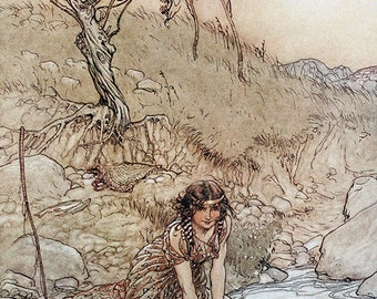 Hermia, Arthur Rackham, Vinatge Art Print