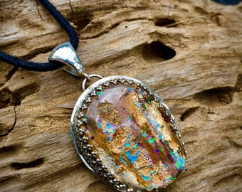Sacred Earth- Boulder Opal Necklace