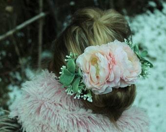 Blush flower clip,bridal hair clip,blush clip,vintage flower clip,  ready to ship, Bridal headpiece, blush bridal clip,