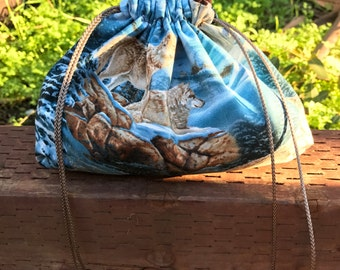 Wolves Drawstring Pouches (Animals - Nature - Shaman - Herb - Accessories)