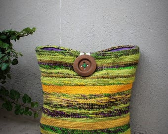Handwoven clutch, wallet, big cosmetic bag