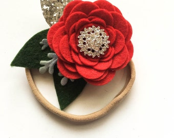 Red elegance headband / baby headband / girl headband / nylon headband