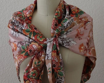 Square Scarf, Floral Print