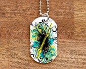 Flute Dog Tag Necklace for Band Geeks