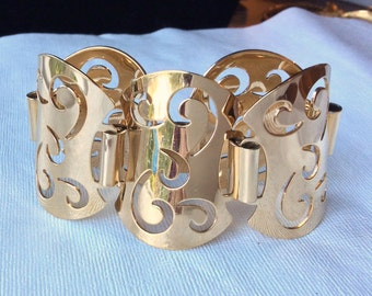 Sarah Coventry Gold Apostrophe Bracelet