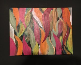 """Original Acrylic Painting By Artist....Signed....""""Blades of Color"""""""