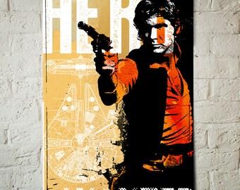Star Wars Art - Han Solo - Star Wars Patent Art Print, Han Solo print, Fan Art, pop art, Illustration, Star Wars Poster, Star Wars Gift