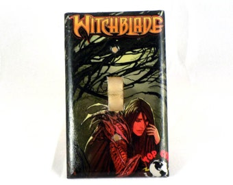 Witchblade Upcycled Previews Advertisement Handmade Lightswitch Cover Light Switch Plate