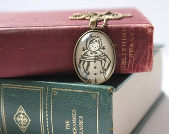 Betsy Tacy necklace | Maud Hart Lovelace | book jewelry | holiday jewelry | winter pendant necklace | gift for her
