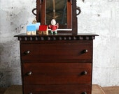RESERVED for O - Vintage Doll Dresser / Furniture