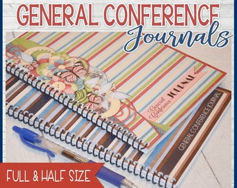 LDS General Conference Journal, Notes, Notebook - Printable Instant Download