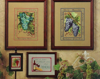 FROM THE VINEYARD Counted Cross Stitch Sampler Patterns Wine Grapes Jeanette Crews Designs No. 630234 Stephanie Seabrook Hedgepath Designer