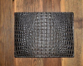 MacBook Air Case, Leather MacBook 13 Inch, Croco Embossed Leather, MacBook Air 11 Inch,  MacBook Air Case, Leather MacBook Sleeve