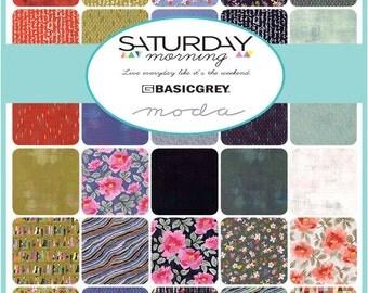 Saturday Morning Fat Quarter Bundle by BasicGrey for Moda Fabrics