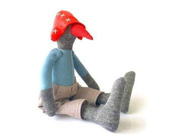 Plushie Softie doll , Bird Nursery Decor , Bird doll  , Stuffed Animal , Soft Sculpture Toy , goose toy , Plushie rag doll , Softie duck